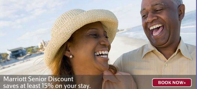 マリオットホテルのシニア割引を発見しました~。シニアレート対象者は62歳以上・・・15%off!!
