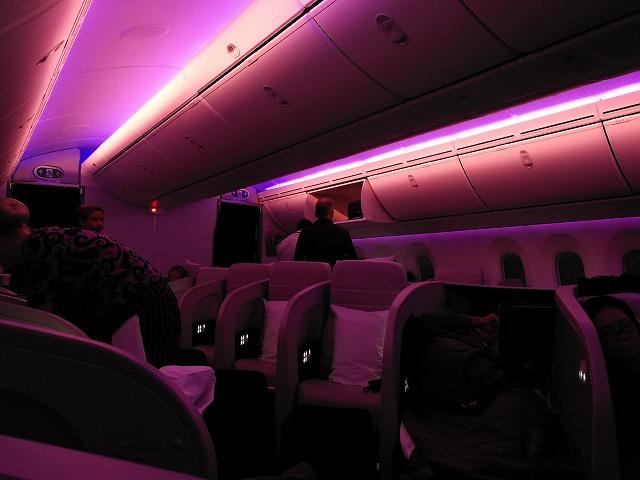 ニュージーランド航空のビジネス・プレミアにのってシドニーに向かう